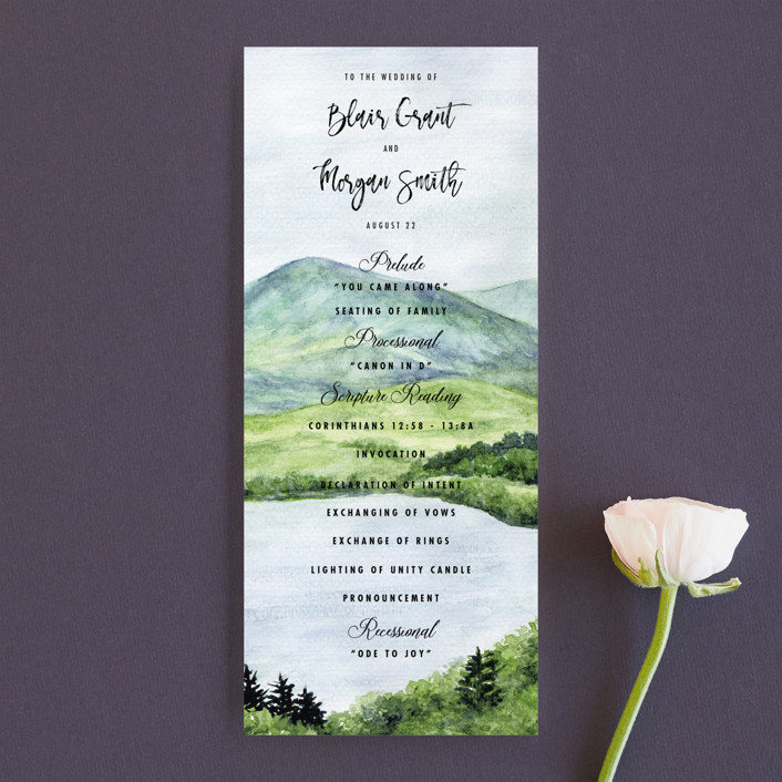 """""""Into the Woods"""" - Rustic Unique Wedding Programs in Forest by Elly."""