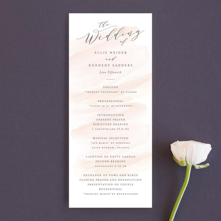 """Sophisticated script"" - Unique Wedding Programs in Blush by Hooray Creative."