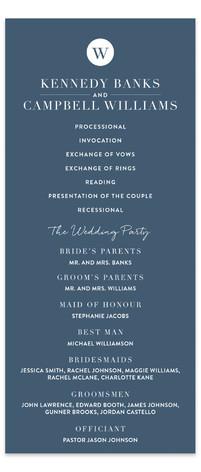 Wedding Stamp Wedding Programs