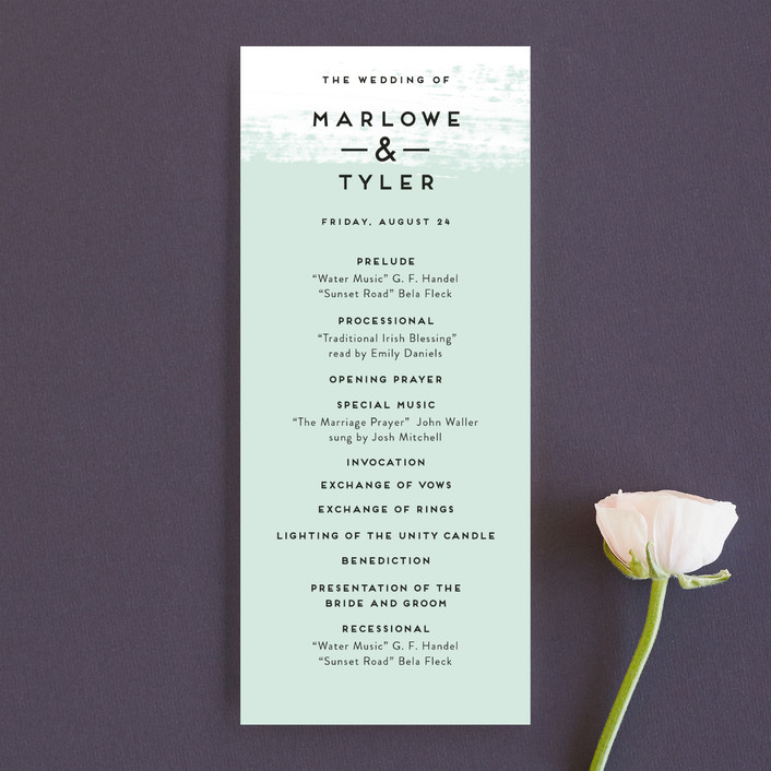 """Museum quality"" - Wedding Programs in Teal by Jennifer Wick."