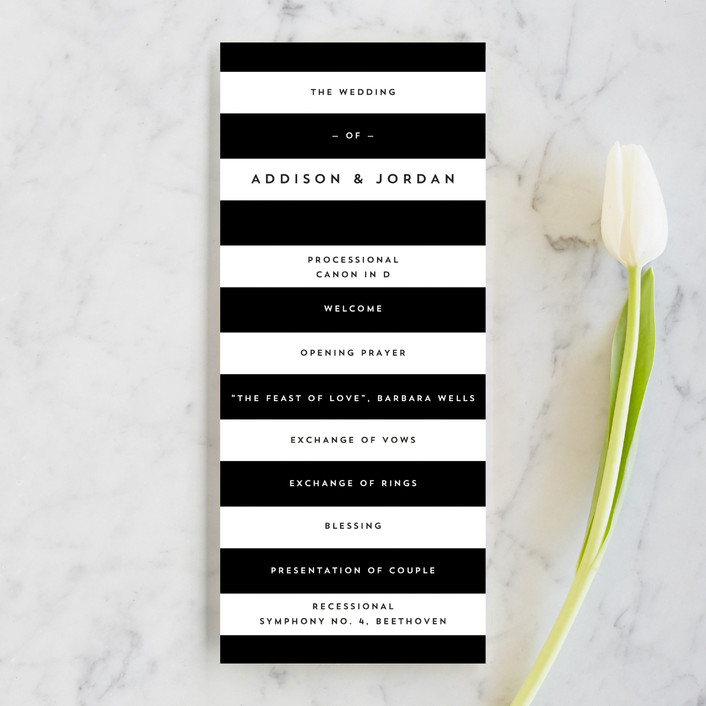 """""""Élan"""" - Unique Wedding Programs in Tuxedo by Griffinbell Paper Co.."""