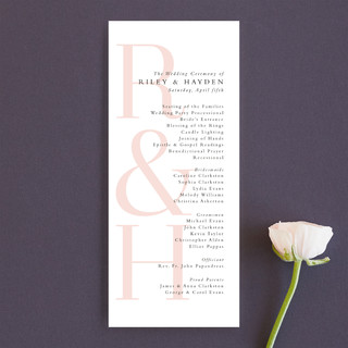 over and over Unique Wedding Programs