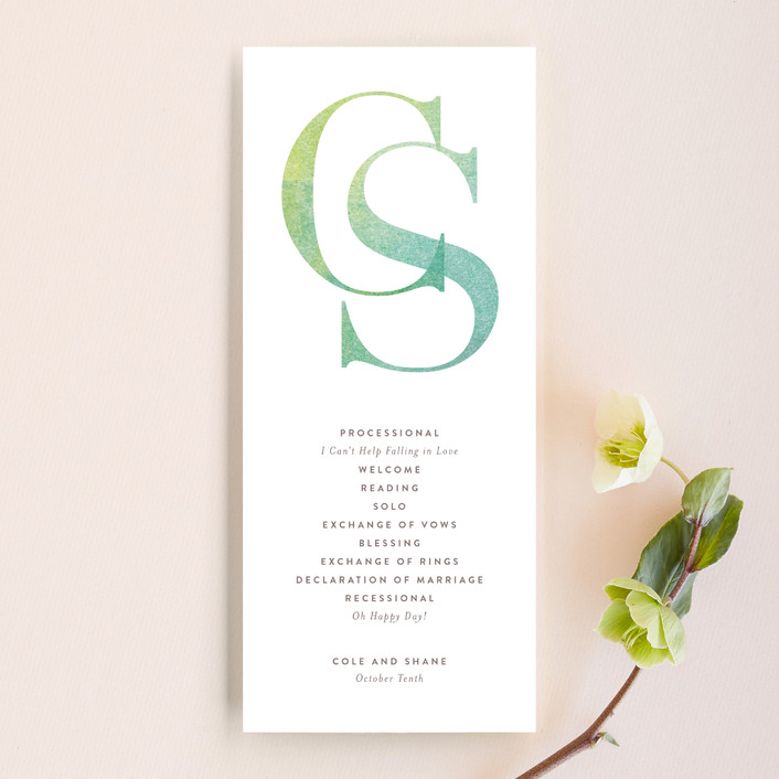 """Sunsprite"" - Unique Wedding Programs in Rose Quartz by kelli hall."