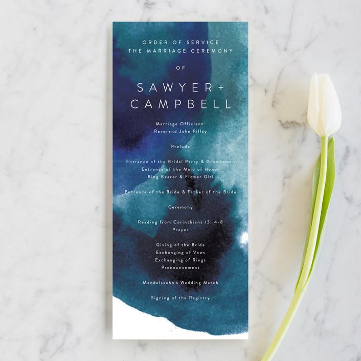 """""""Inked"""" - Unique Wedding Programs in Deep Sea by Phrosne Ras."""