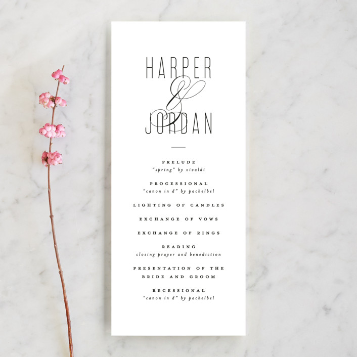 """""""Scripted Ampersand"""" - Wedding Programs in Classic by Roxy Cervantes."""
