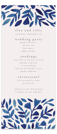 Wildflower Floral Wedding Programs