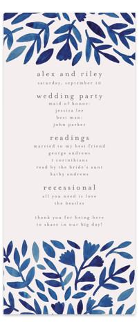 Wildflower Floral Wedding Programs