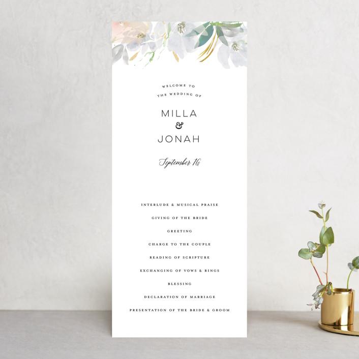 """""""Grande Botanique"""" - Wedding Programs in Mist by Bonjour Paper."""