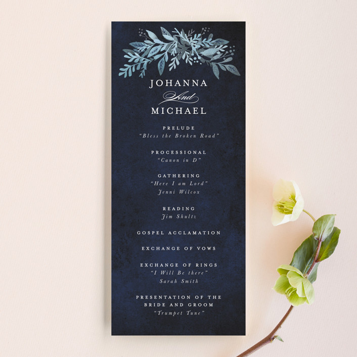 """Tailored Branches"" - Unique Wedding Programs in Atlantic by Karidy Walker."