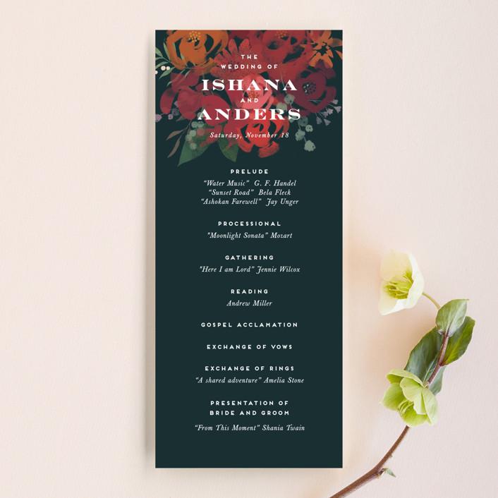 """""""Midnight Garden"""" - Unique Wedding Programs in Deep Sea by Jennifer Wick."""