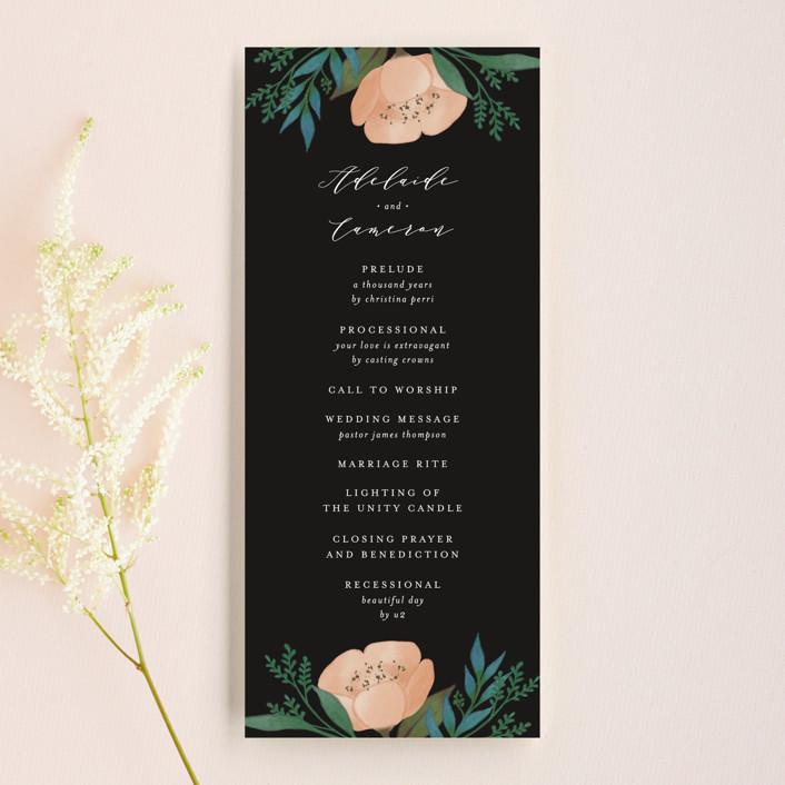 """""""Twilight"""" - Unique Wedding Programs in Coal by Lehan Veenker."""