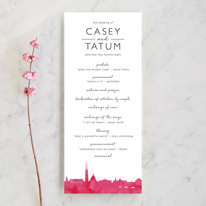 Skyline Washington Dc Wedding Programs By Laura Condouris Minted
