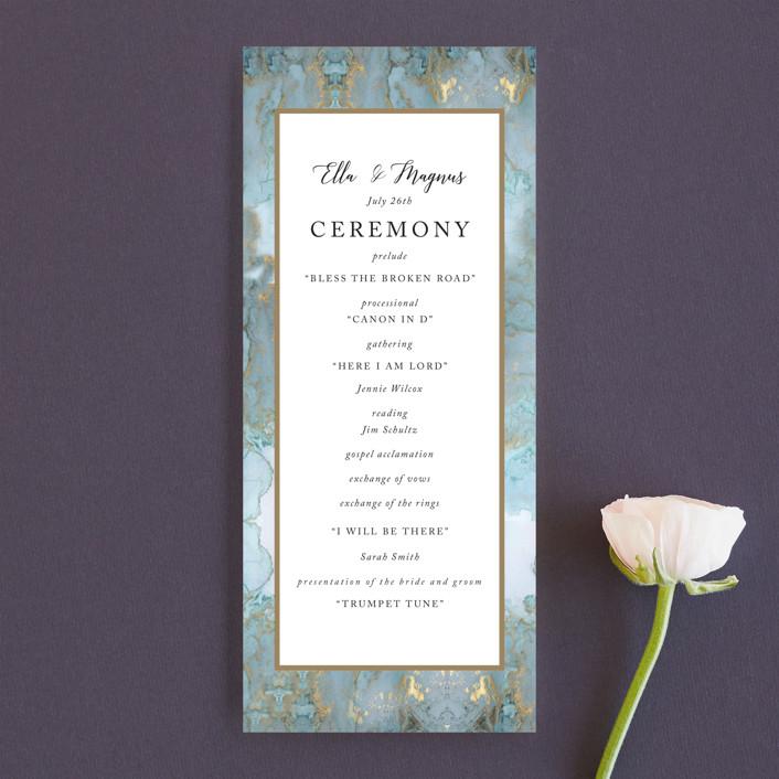 """Something Blue"" - Wedding Programs in Aqua by Benita Crandall."