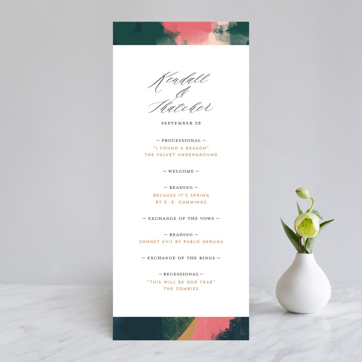 """Dreaming"" - Modern Wedding Programs in Garden by iamtanya."