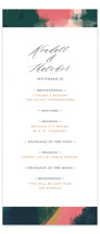 This is a green unique wedding program by iamtanya called Dreaming with standard printing on signature in standard.