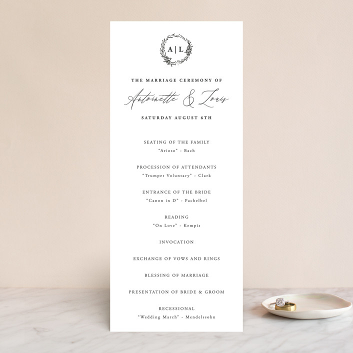 """""""Antoinette"""" - Wedding Programs in Ivory by lulu and isabelle."""