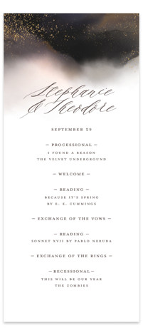 Enchantment Wedding Programs