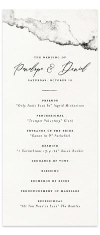 Inky Wedding Programs