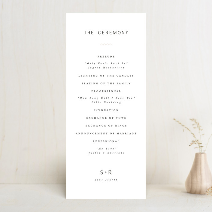 """Adora"" - Wedding Programs in Dawn by Leah Bisch."