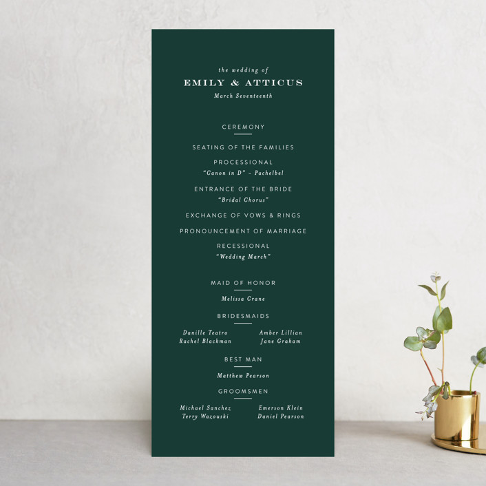 """""""Picture Perfect"""" - Wedding Programs in Diamond by Amy Payne."""