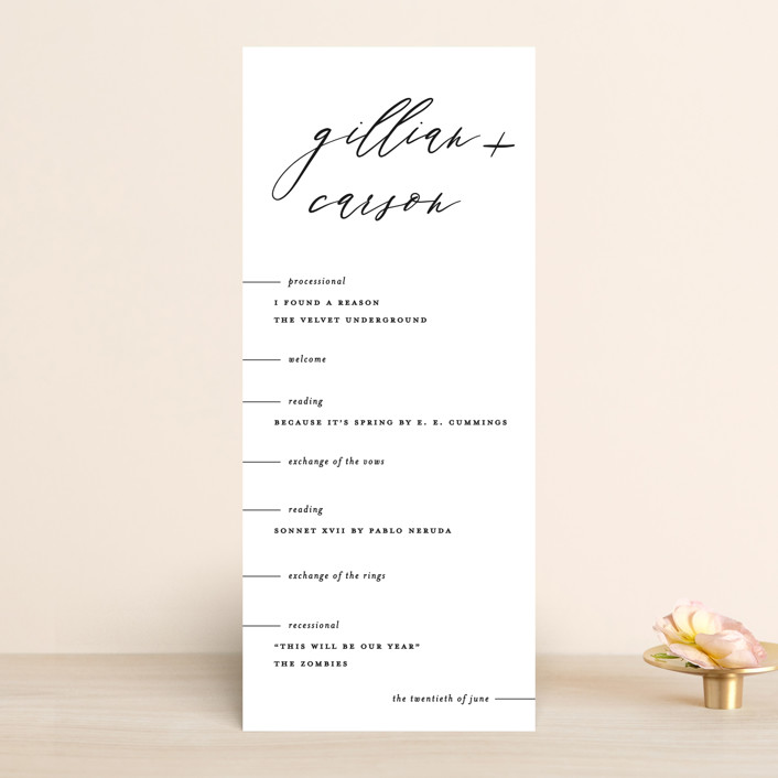"""Villa"" - Wedding Programs in Pearl by Chryssi Tsoupanarias."