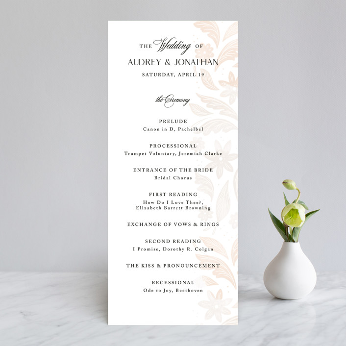 """Batikka"" - Wedding Programs in Cream by Paper Raven Co.."