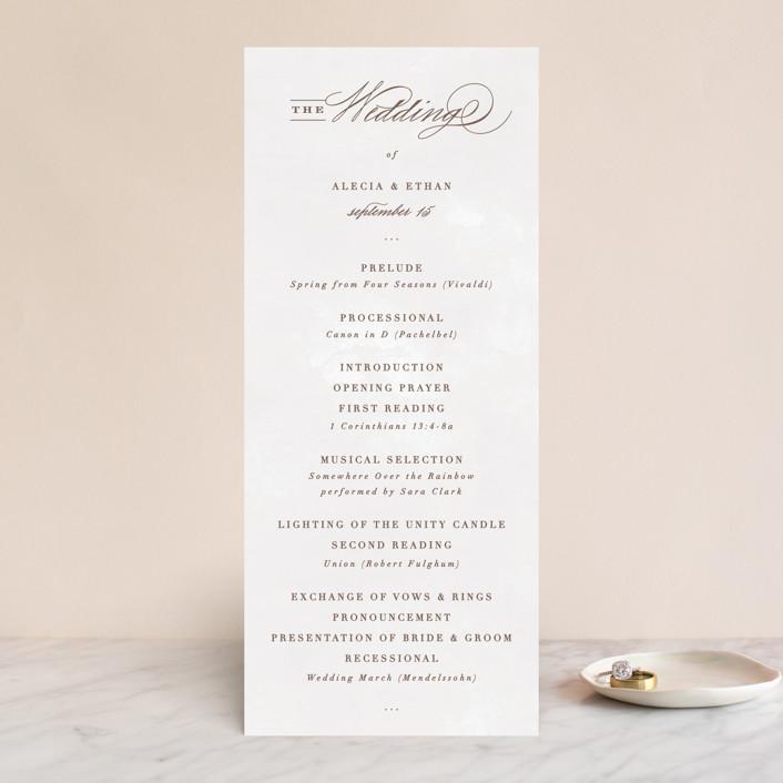 """Sonesta"" - Wedding Programs in Mineral by Hooray Creative."