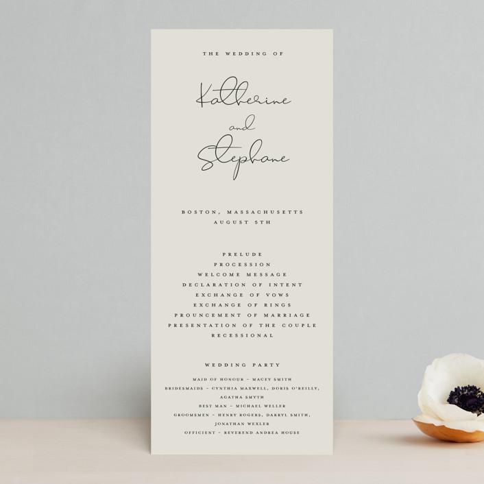 """sweet sweet elegance"" - Wedding Programs in Dutch Cream by frances."