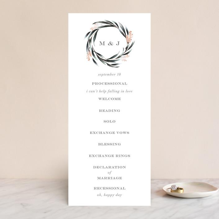 """Maya Rustica"" - Wedding Programs in Rose by Petra Kern."