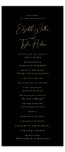 This is a black unique wedding program by Jennifer Postorino called Desire with standard printing on signature in standard.