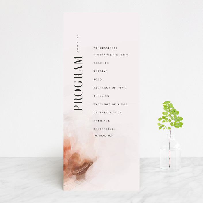 """Romantic"" - Wedding Programs in Earth by Lori Wemple."