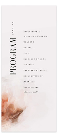 Romantic Wedding Programs