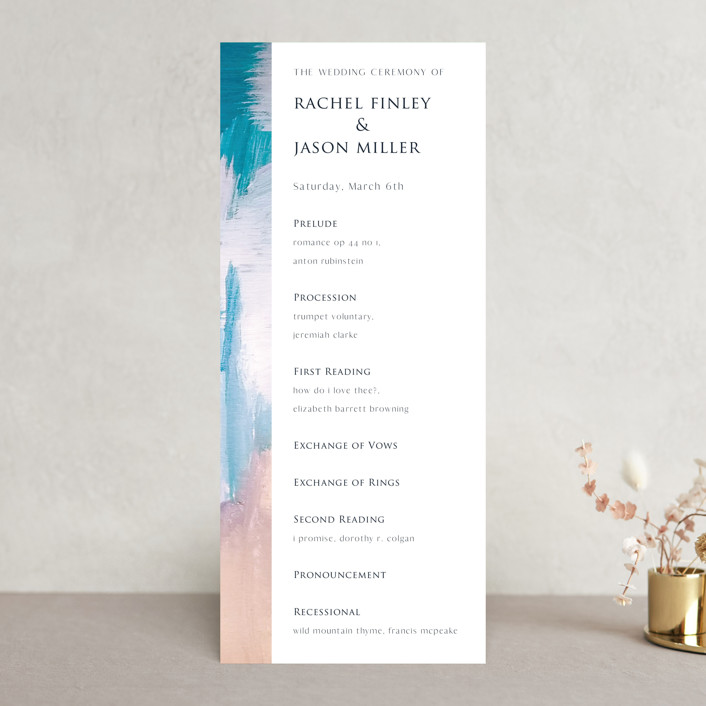 """Sand & Sun"" - Wedding Programs in Ocean by Nicole Walsh."