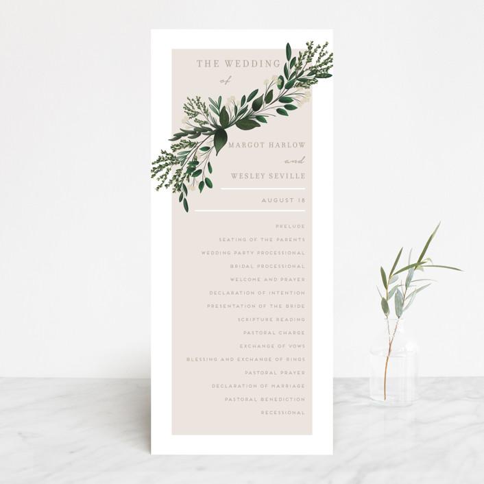 """Watermark"" - Wedding Programs in Cypress by Kaydi Bishop."