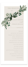This is a green unique wedding program by Kaydi Bishop called Watermark with standard printing on signature in standard.