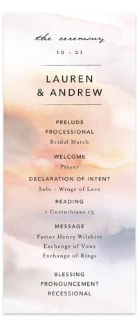 Soaring Wedding Programs