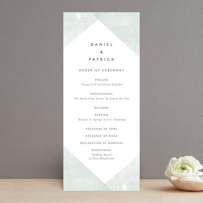 """""""Elegantly Minimal"""" - Wedding Programs in Seafoam by itsjensworld."""