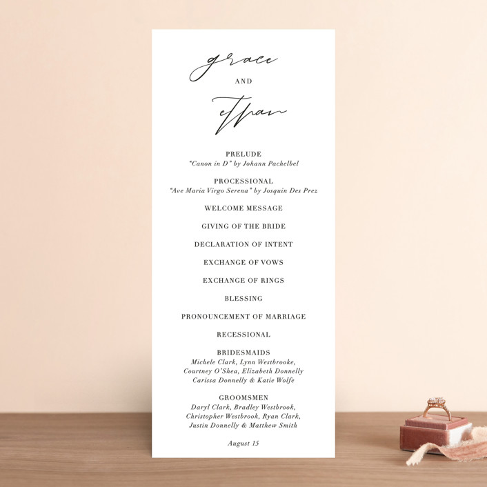 """first dance"" - Wedding Programs in Champagne by Kasia Labocki."