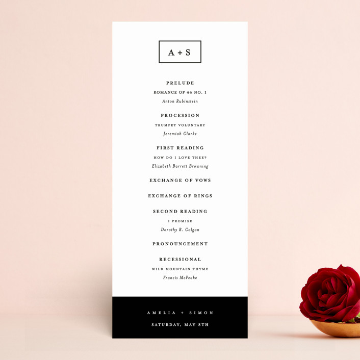 """""""Elemental"""" - Wedding Programs in Cloud by Snow and Ivy."""