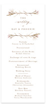 This is a brown unique wedding program by Phrosne Ras called ring box with standard printing on signature in standard.