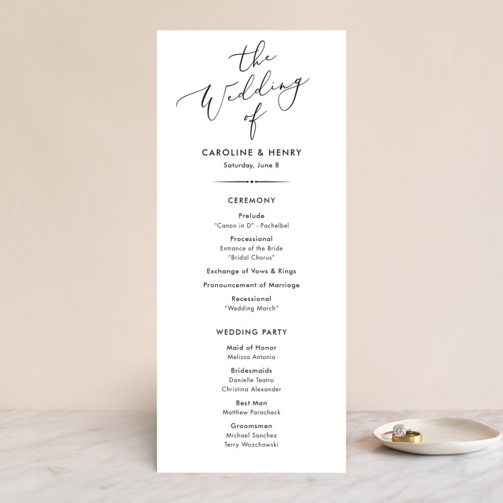 """""""Scripted Romance"""" - Wedding Programs in Classic by Katherine Moynagh."""