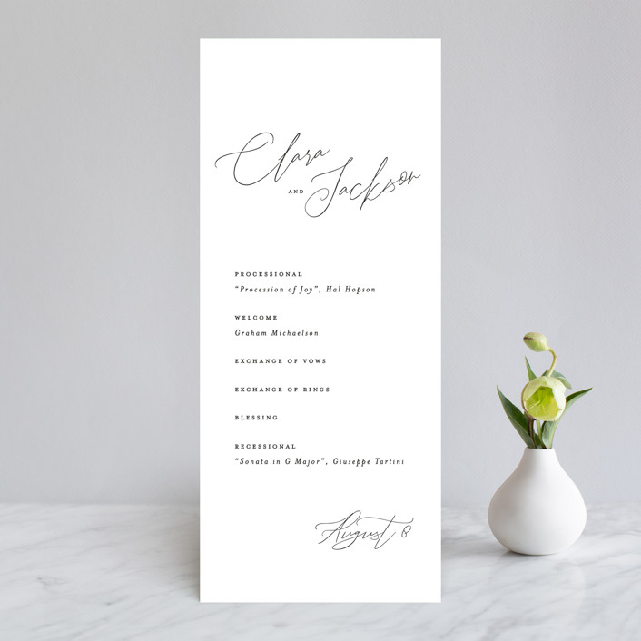 """Bare"" - Wedding Programs in Cloud by Kelly Nasuta."