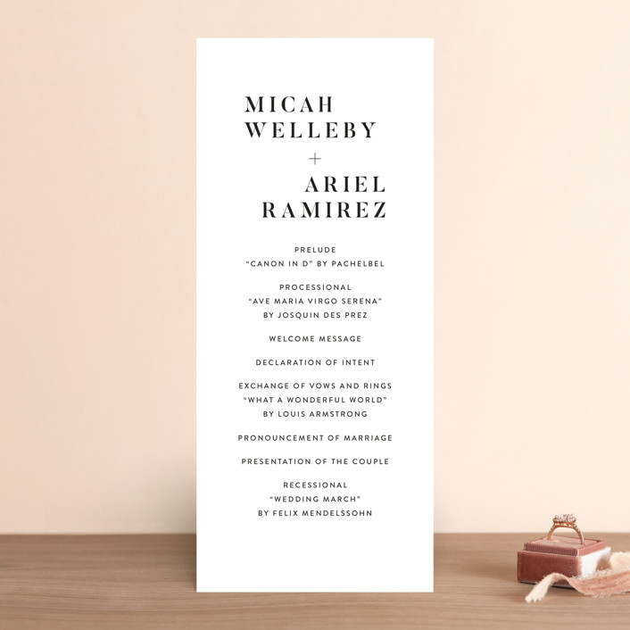 """Harmonie"" - Wedding Programs in Cloud by carly reed walker."