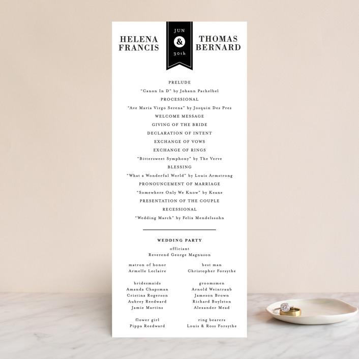 """Helena"" - Wedding Programs in Quartz by 2birdstone."