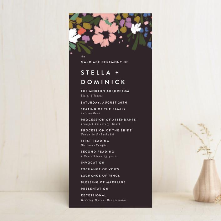 """spring dream"" - Wedding Programs in Onyx by Angela Marzuki."