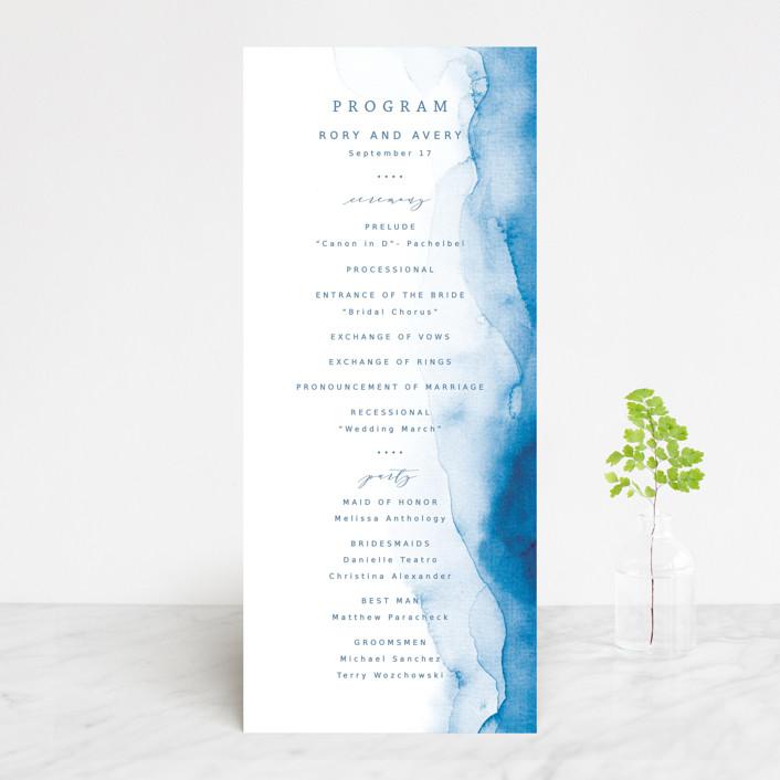 """""""Watercolor waves"""" - Wedding Programs in Ocean by Yuliya Evseeva."""