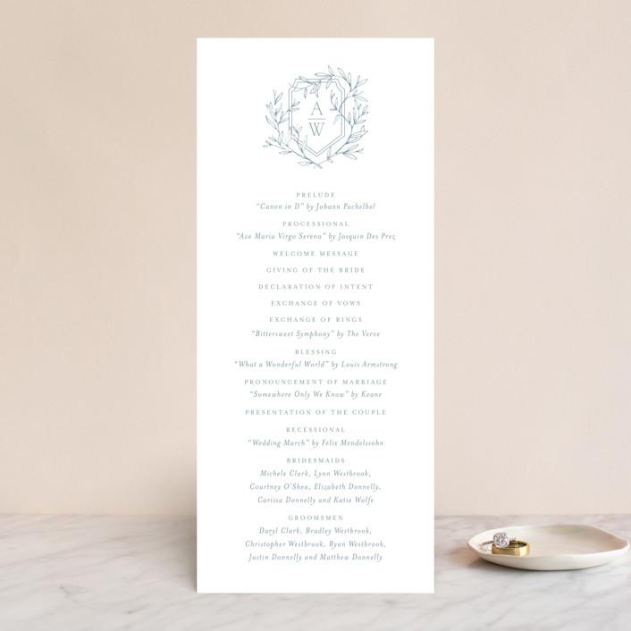 """Love Beyond Measure"" - Unique Wedding Programs in Mineral by Oscar & Emma."