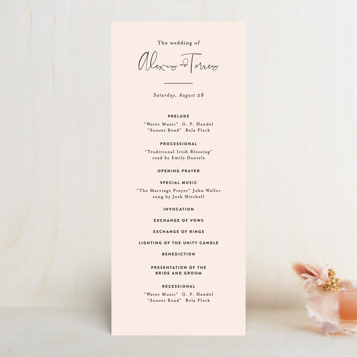"""""""Just the Two of Us"""" - Wedding Programs in Blush by Jennifer Wick."""