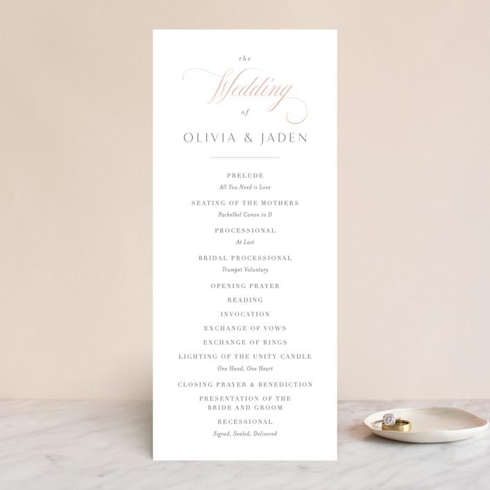 """Gramercy"" - Wedding Programs in Blush by Kristie Kern."