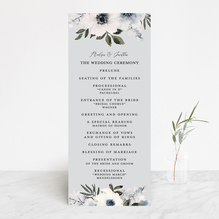 """""""Nantucket Romance"""" - Wedding Programs in Marine by Chris Griffith."""